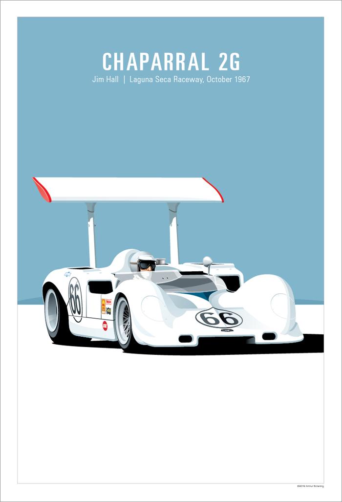 1967 Monterey Grand Prix Laguna Seca  Poster Art Print